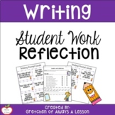 Student Work Reflection Sheet for Writing