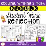 Student Work Reflection Sheets & Prompt Cards BUNDLE