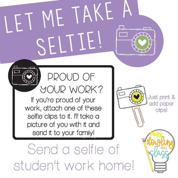 Student Work Selfie