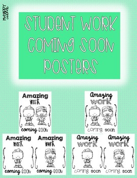 Student Work Wall Display- Amazing Work Coming Soon