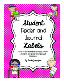 Student Work and Folder Labels - Over 15 Pages! FREEBIE!