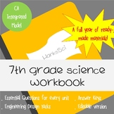 Student Workbook: 7th Grade NGSS (California Integrated Model)