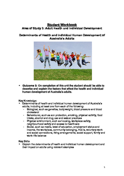 Student Workbook: Adult Health and Individual Development
