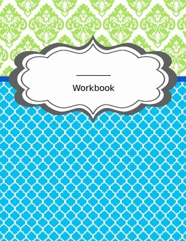 Student Workbook Covers- 6 styles