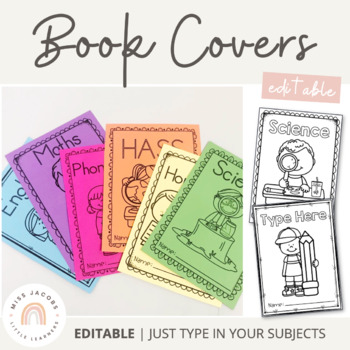 Book Covers {Editable}