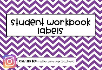 Student Workbook Labels