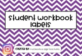 Student Workbook Labels