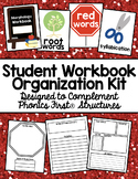Student Workbook Organizer for Phonics First® Structures