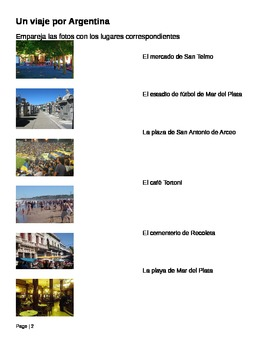 Student Workbook for Argentina Slideshow