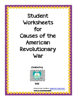 graphic regarding American Revolution Printable Worksheets titled Will cause Of American Revolution Worksheets Lecturers Pay back Academics