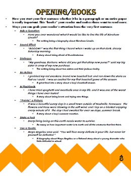 Student Writing Binder (13 Resource Pages Included)