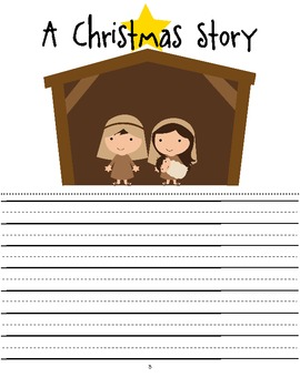 student writing booklet for a christmas story jesus birth tpt