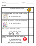 Spanish Student Writing Checklist