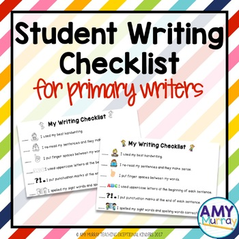 Student Writing Checklist for Primary Writers