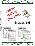 Student Writing Checklists For Grade 1-6 (Self Assessment)