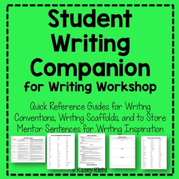 Student Writing Companion: A Resource for Writing Workshop