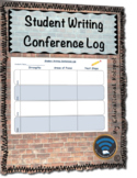 Student Writing Conference Log Form