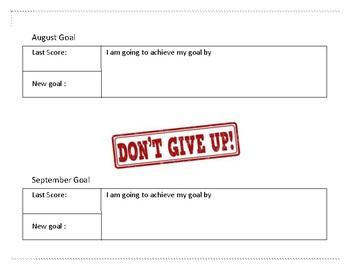 Student Writing Goal Tracker