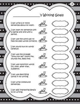 Student Writing Goals