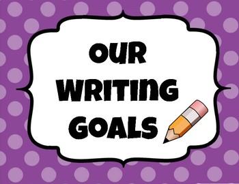 Student Writing Goals Clip Chart