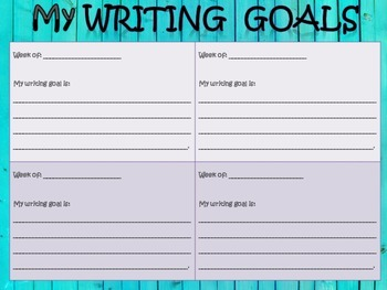 Student Writing Goals...Data Collection