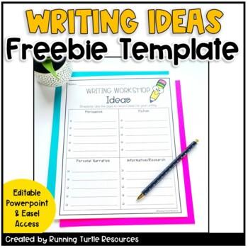 Writing Ideas Template FREE