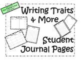 Student Writing Journal Pages