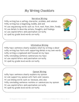 Student Writing Journal with Common Core Writing Checklists {Freebie}
