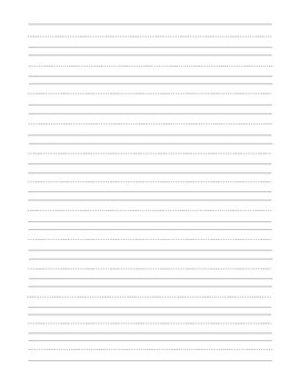 Student Writing Page Blank No Name