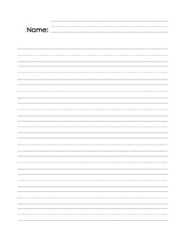 Student Writing Page Blank with Name