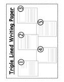 Student Writing Paper Kit