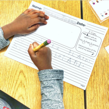 Student Writing Paper with Checklist