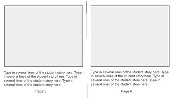 Student Writing Publishing Template