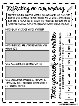 Student Writing Reflections (Growth Mindset) (Virginia Writing SOL)