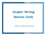 Student Writing Revision Cards