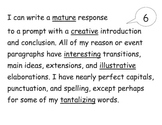 Student Writing Scale and Rubric