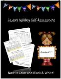 Student Writing Self Assessment K-2