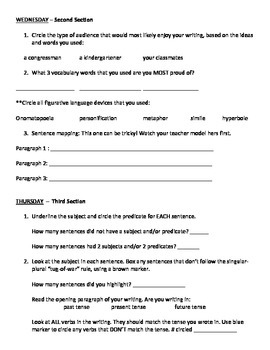 Student Writing Self Assessment and Editing Tool