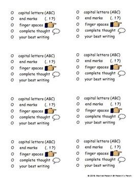 Student Writing Self-Checklist