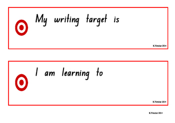 Writing Goals / Targets 2