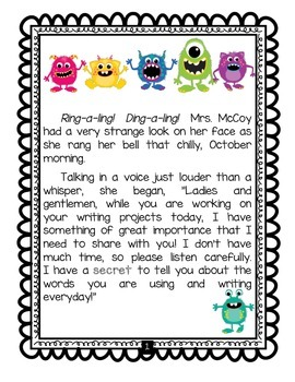 Fun Story Spelling Word Work Editing Motivation Listening Comprehension; Writing