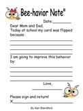Student Written Behavior Note