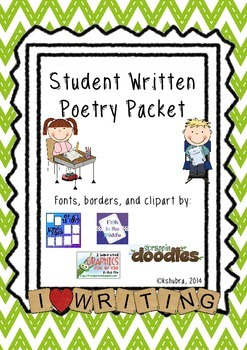 Student Written Poetry Packet