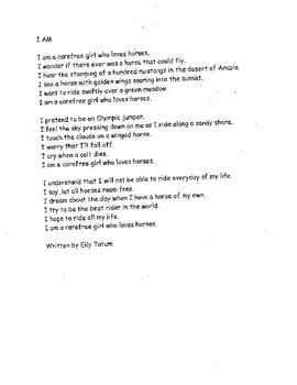 Student Written Poetry Slam...I AM