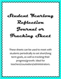 Student Yearlong Reflection Sheets