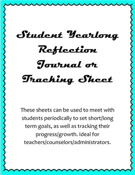 Student Yearlong Reflection Sheets
