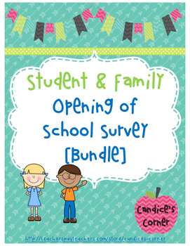 Student and Family Surveys [Bundle]