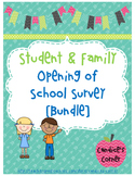Student and Family Surveys [FREEBIE]