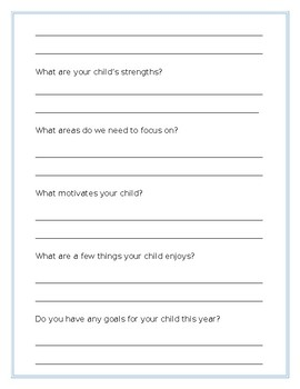 Student and Parent Information Sheet