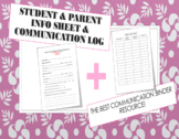 Student and Parent Information Sheet & Communication Log (Editable)